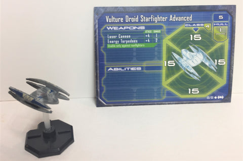 Star Wars Starship Battles 60/60 Vulture Droid Starfighter Advanced (C) Miniature