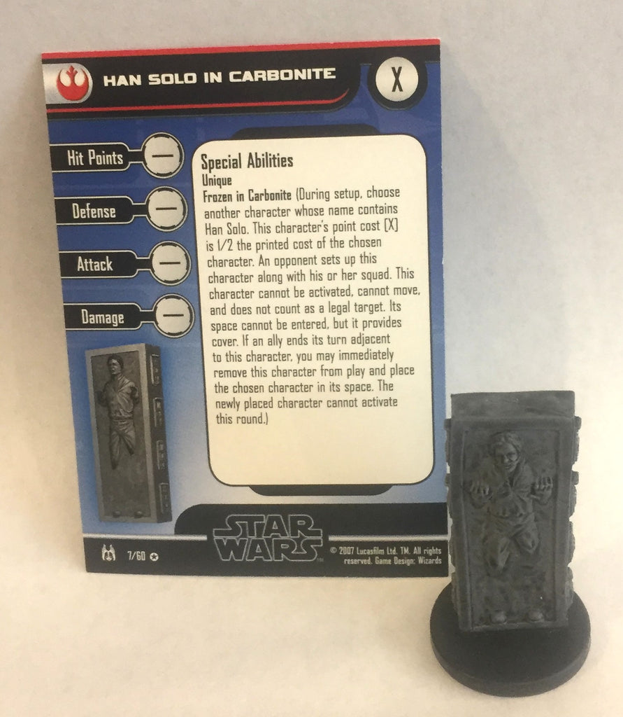 Star Wars Force Unleashed 7/60 Han Solo in Carbonite (VR)