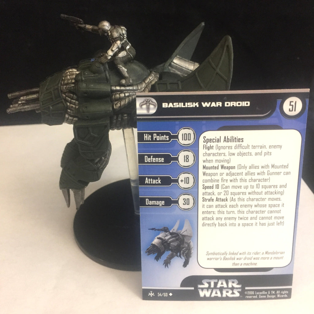 Star Wars Miniatures Bounty Hunters 54/60 Basilisk War Droid (U)