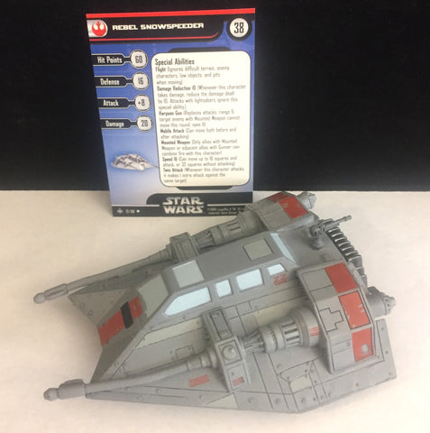Star Wars Miniatures Bounty Hunters 12/60 Rebel Snowspeeder (U)