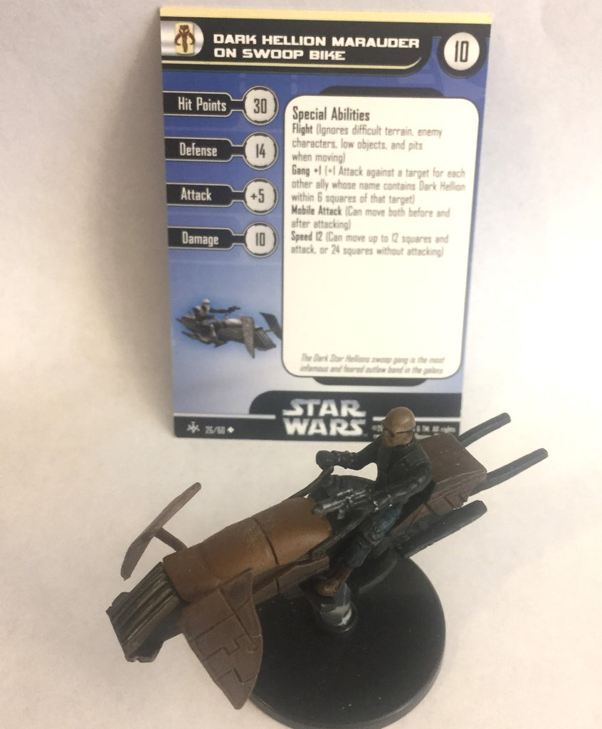 Star Wars Bounty Hunters 26/60 Dark Hellion Marauder on Swoop Bike (U)