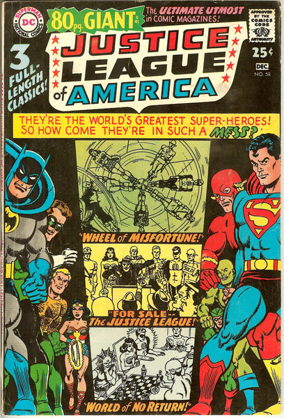 Justice League of America #58 (1967) FN+ 80 Pg. Giant