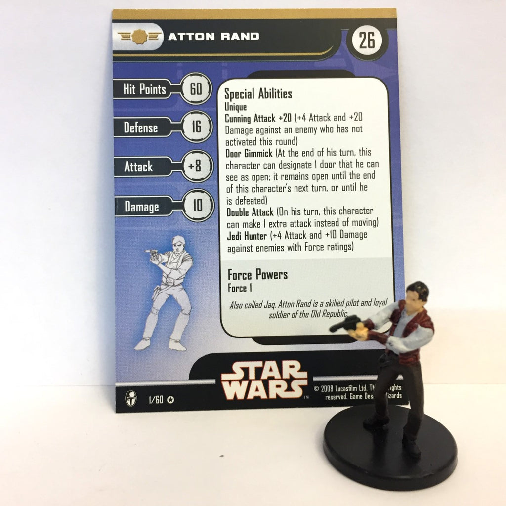 Star Wars Knights of the Old Republic 01/60 Atton Rand (VR)