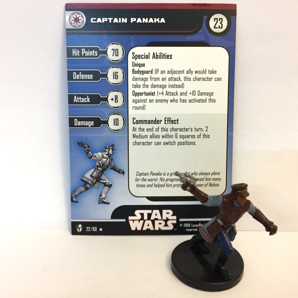 Star Wars Knights of the Old Republic 22/60 Captain Panaka (R)