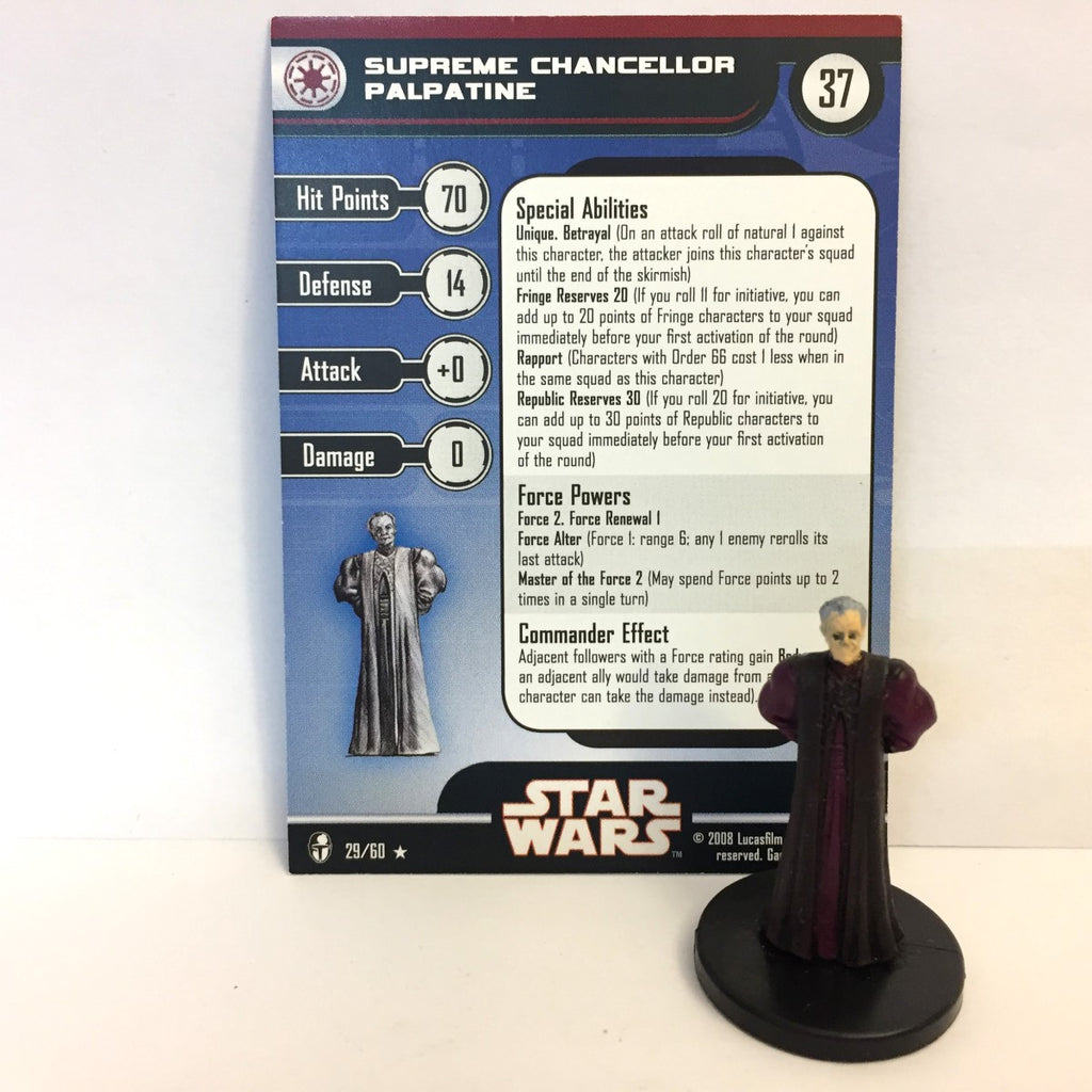 Star Wars Knights of the Old Republic 29/60 Supreme Chancellor Palpatine (R)