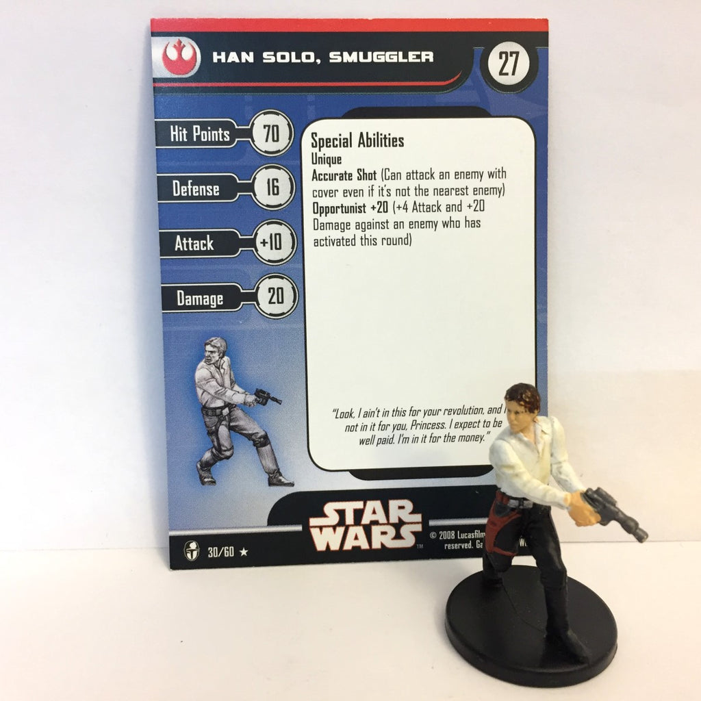 Star Wars Knights of the Old Republic 30/60 Han Solo, Smuggler (R)