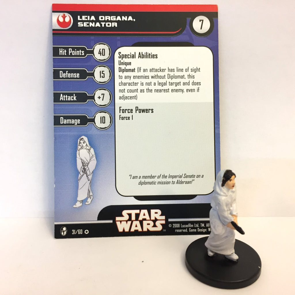 Star Wars Knights of the Old Republic 31/60 Leia Organa Senator (VR)