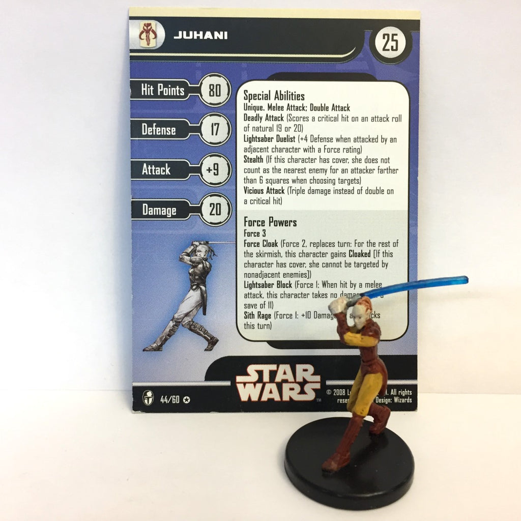 Star Wars Knights of the Old Republic 44/60 Juhani (VR)