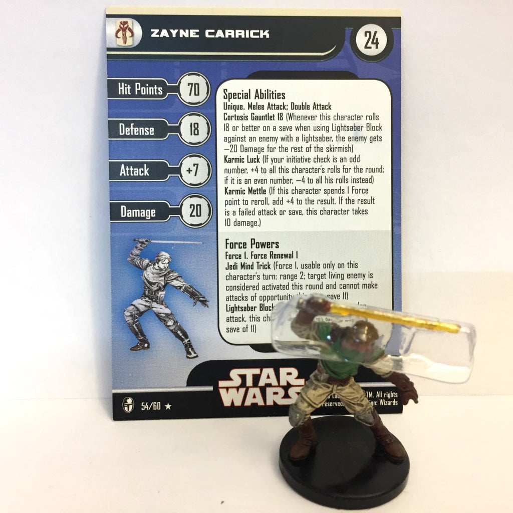 Star Wars Knights of the Old Republic 54/60 Zayne Carrick (R)