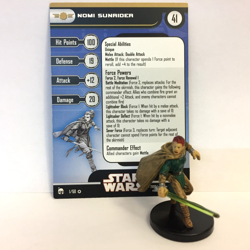 Star Wars Legacy of the Force 01/60 Nomi Sunrider (VR)