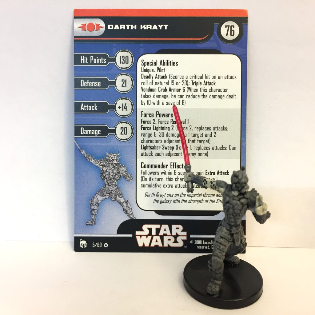 Star Wars Legacy of the Force 05/60 Darth Krayt (VR)