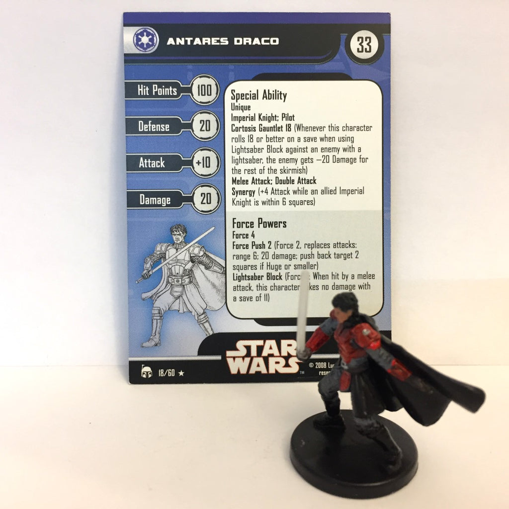 Star Wars Legacy of the Force 18/60 Antares Draco (R)