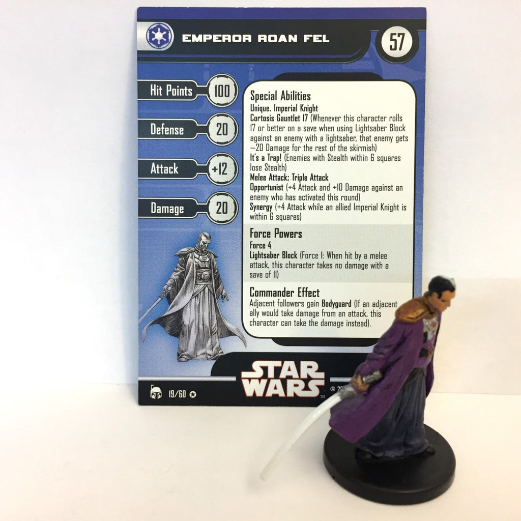 Star Wars Legacy of the Force 19/60 Emperor Roan Fel (VR)