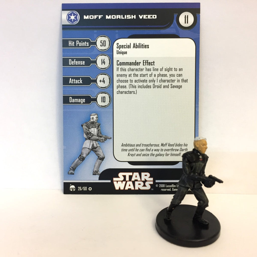 Star Wars Legacy of the Force 26/60 Moff Morlish Veed (VR)