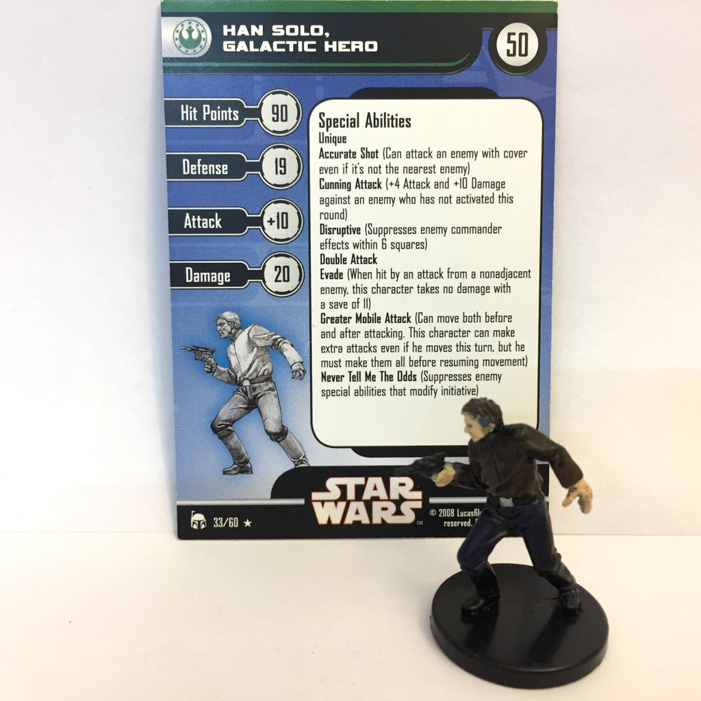 Star Wars Legacy of the Force 33/60 Han Solo, Galactic Hero (R)