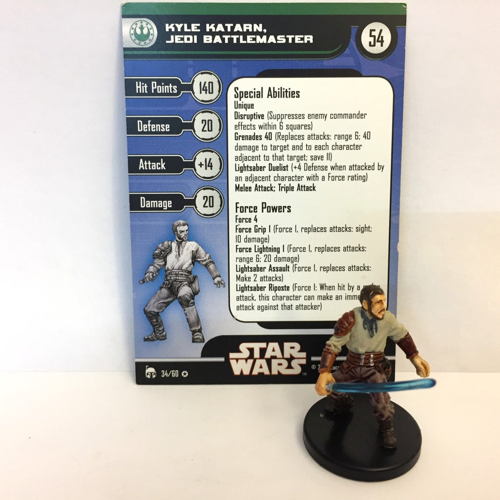 Star Wars Legacy of the Force 34/60 Kyle Katarn, Jedi Battlemaster (VR)
