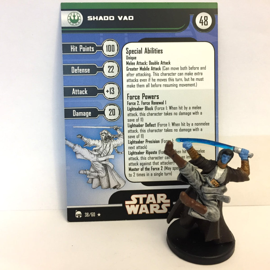 Star Wars Legacy of the Force 38/60 Shado Vao (R)