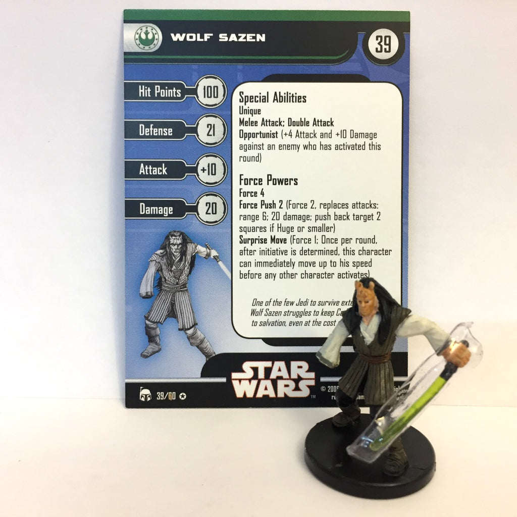 Star Wars Legacy of the Force 39/60 Wolf Sazen (VR)