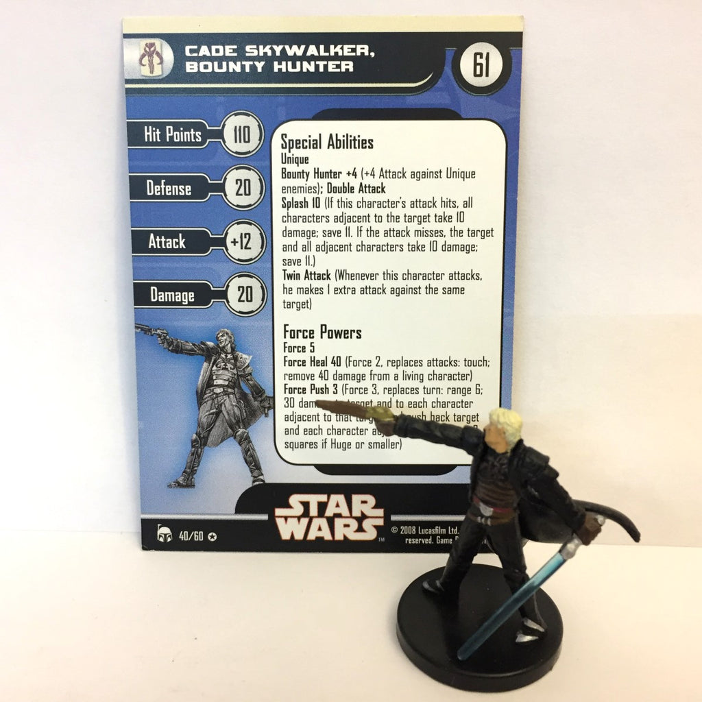 Star Wars Legacy of the Force 40/60 Cade Skywalker, Bounty Hunter (VR)
