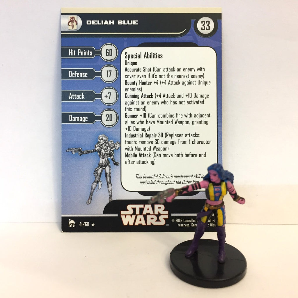 Star Wars Legacy of the Force 41/60 Deliah Blue (R)