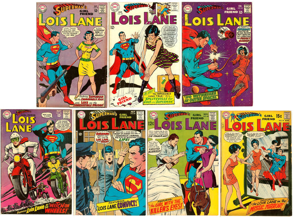 Superman's girl friend Lois Lane ( Lot of 7 ) Vintage 1967-69 FN-VF