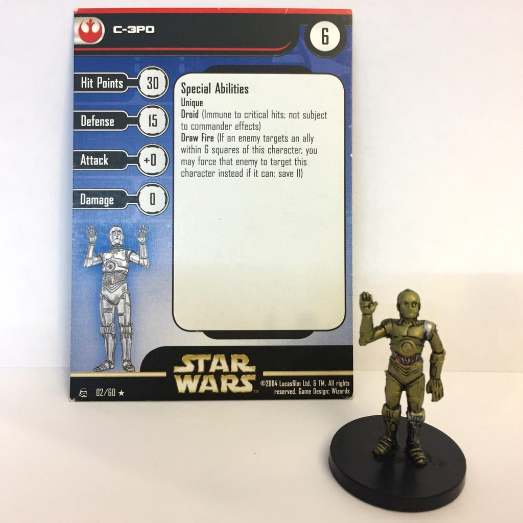 Star Wars Rebel Storm #2 C-3PO (R) Miniature