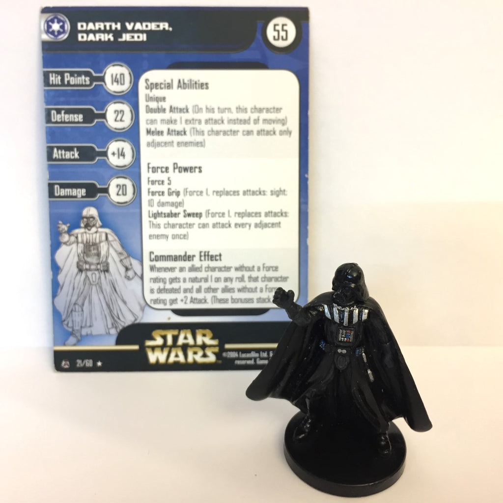 Star Wars Rebel Storm #21 Darth Vader, Dark Jedi (R) Miniature