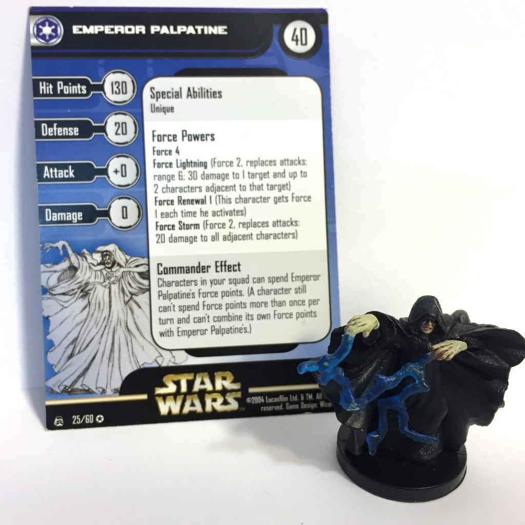 Star Wars Rebel Storm #25 Emperor Palpatine (VR) Miniature