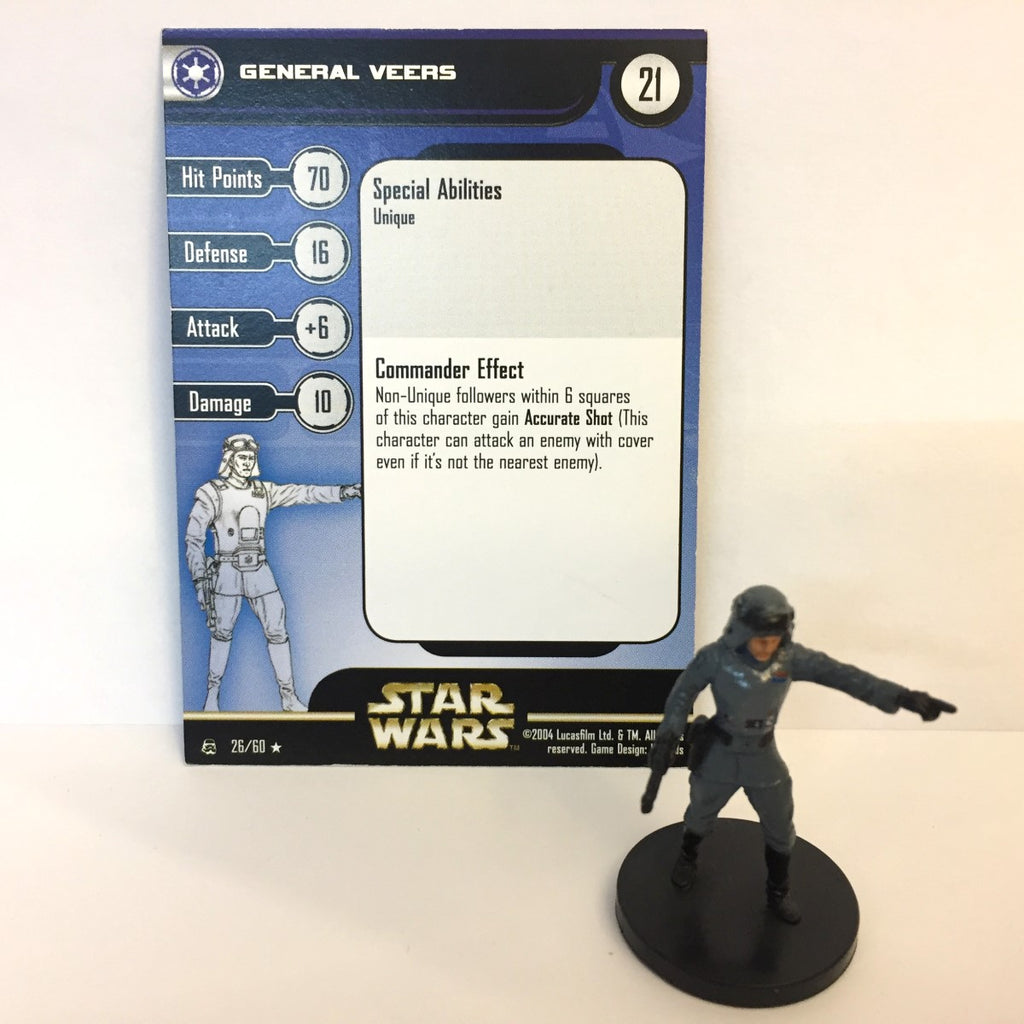 Star Wars Rebel Storm #26 General Veers (R) Miniature
