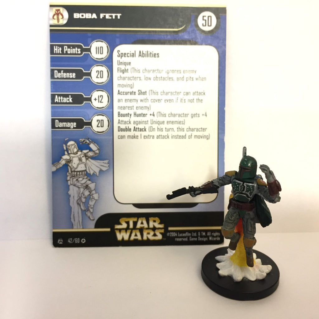 Star Wars Rebel Storm #42 Boba Fett (VR) Miniature
