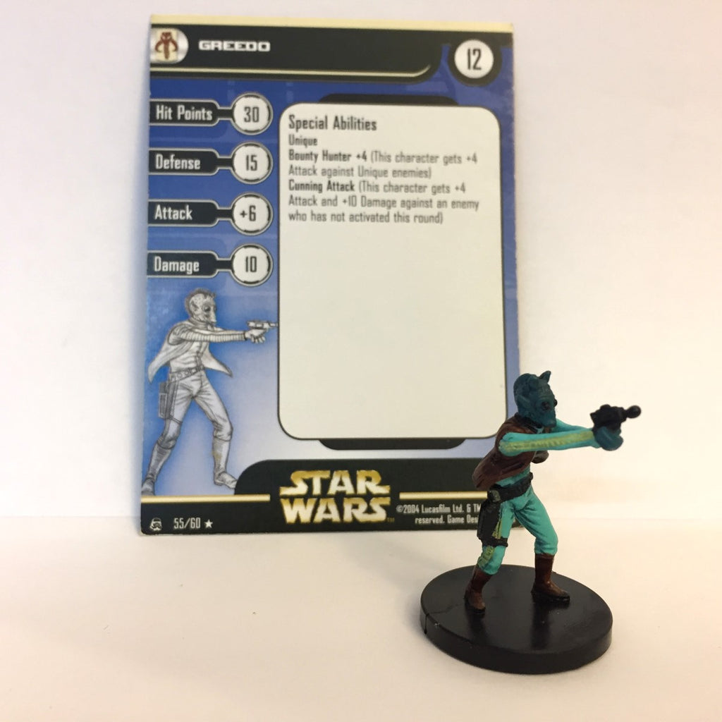Star Wars Rebel Storm #55 Greedo (R) Miniature