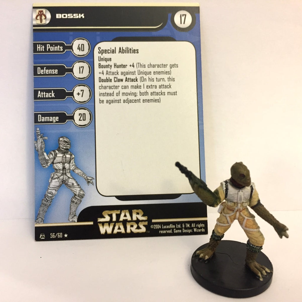 Star Wars Rebel Storm #56 Bossk (R) Miniature
