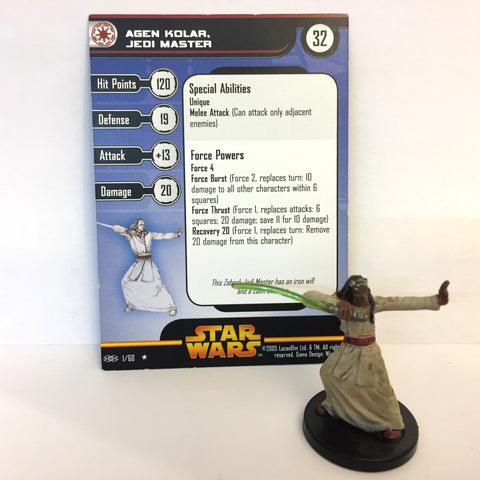 Star Wars Revenge of the Sith #1 Agen Kolar, Jedi Master (R) Miniature