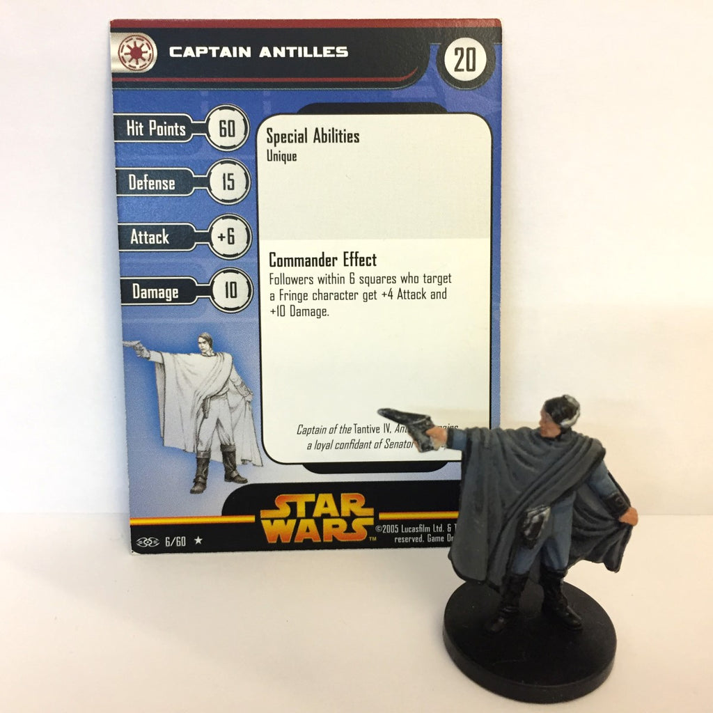 Star Wars Revenge of the Sith #6 Captain Antilles (R) Miniature