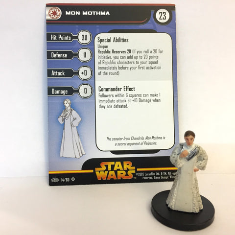 Star Wars Revenge of the Sith #14 Mon Mothma (VR) Miniature