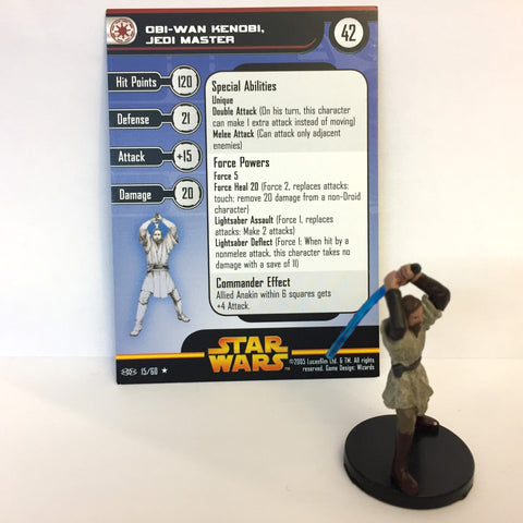 Star Wars Revenge of the Sith #15 Obi-Wan Kenobi, Jedi Master (R) Miniature