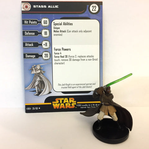 Star Wars Revenge of the Sith #20 Stass Allie (R) Miniature