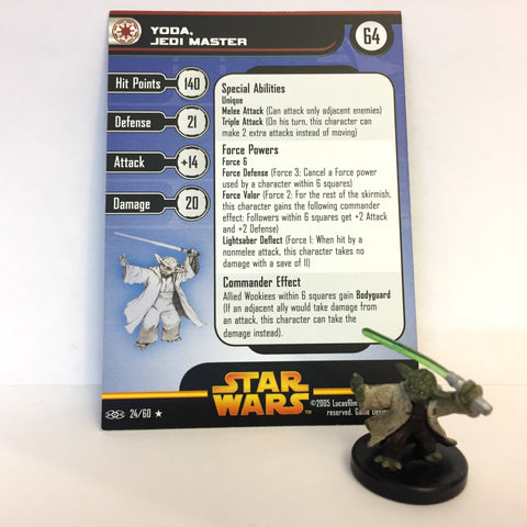 Star Wars Revenge of the Sith #24 Yoda, Jedi Master (R) Miniature