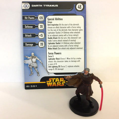 Star Wars Revenge of the Sith #29 Darth Tyranus (R) Miniature