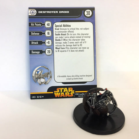 Star Wars Revenge of the Sith #30 Destroyer Droid (R) Miniature