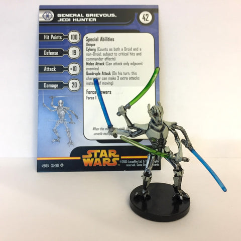 Star Wars Revenge of the Sith #31 General Grievous, Jedi Hunter (VR) Miniature
