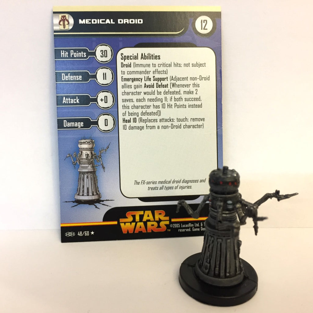 Star Wars Revenge of the Sith #48 Medical Droid (R) Miniature