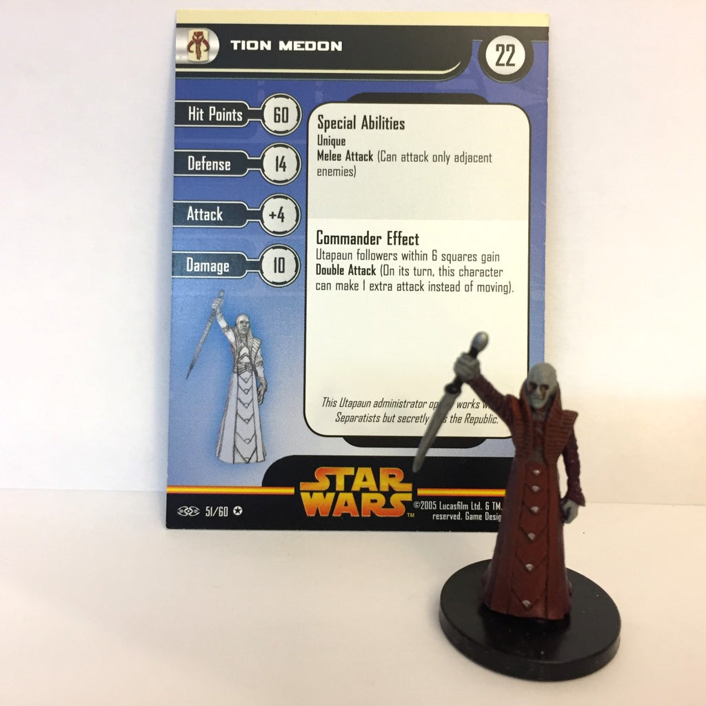 Star Wars Revenge of the Sith #51 Tion Medon (VR) Miniature