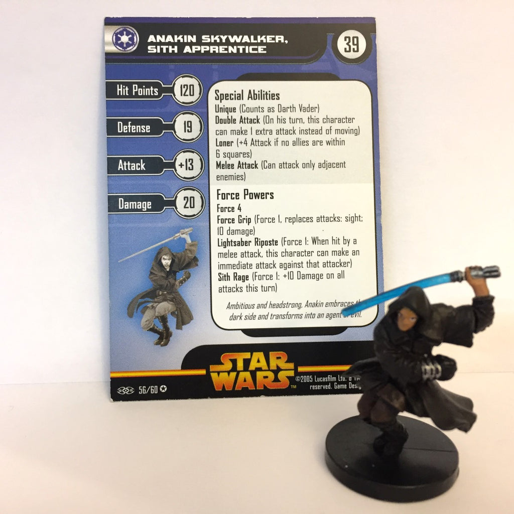 Star Wars Revenge of the Sith #56 Anakin Skywalker, Sith Apprentice (VR) Miniatu