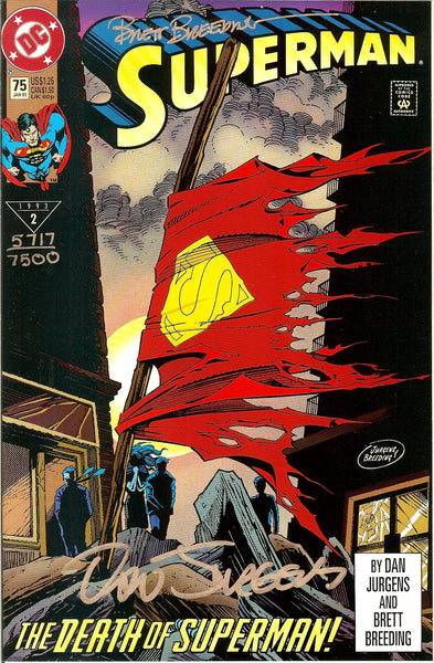 Death of Superman #75 Direct & Collector Editions Signed Numbered