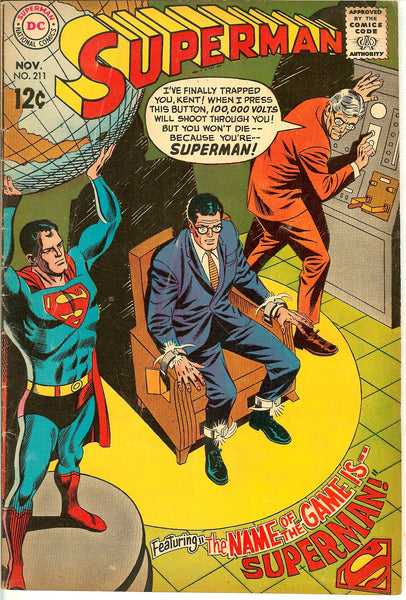 Superman Comics ( Lot of 5 ) Vintage 1967-68 VG to FN+