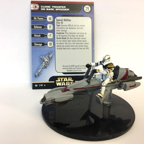 Star Wars Universe #2 Clone Trooper on Barc Speeder (R) Miniature
