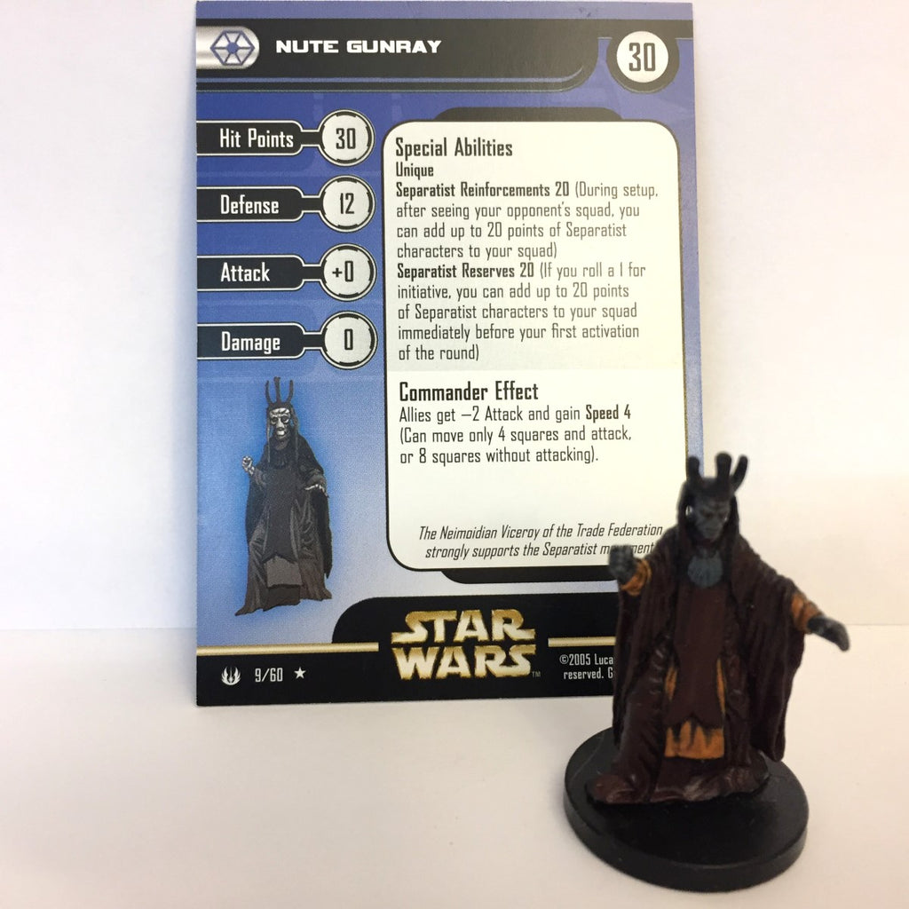 Star Wars Universe #9 Nute Gunray (R) Miniature