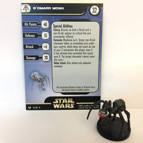 Star Wars Universe #15 B'Omarr Monk (R) Miniature