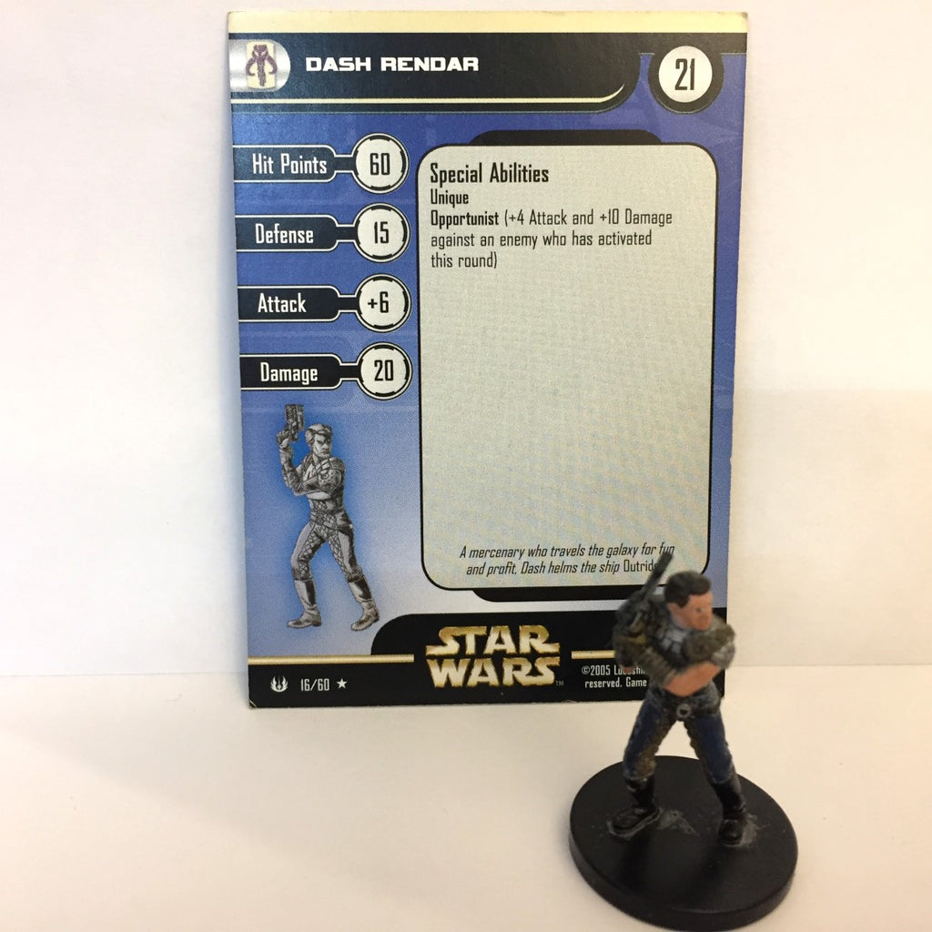 Star Wars Universe #16 Dash Rendar (R) Miniature